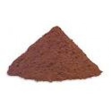 West African dark red cacao powder